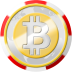 bitcoin, chip, coinsphere, casino icon