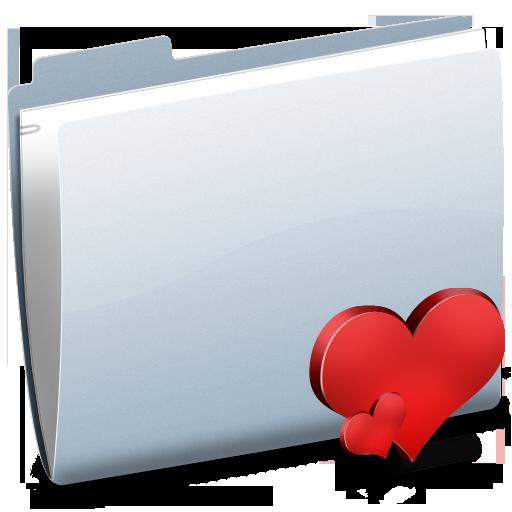 valentine, heart, love, folder icon
