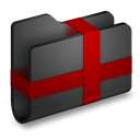 Black, Folder, Package icon
