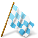 map, flag, base, marker, chequered, azure, right icon