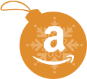 amazon, ball, christmas icon