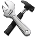 options, code, hammer, screwdriver, tools, settings, build icon