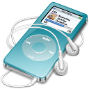 ipod, nano, blue icon