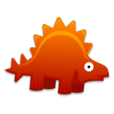 cartoon, dinosaur, stegosaurus icon