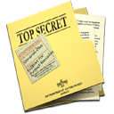 secret, document, top, and, folder, paper, file icon