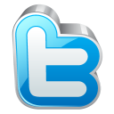 twitter 3d front icon