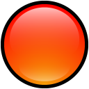 empty, button, red, blank icon