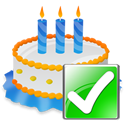 Birthday, Cake, Ok icon