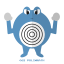 kanto, poliwrath, psy, water, pokemon icon