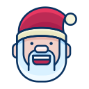 emoji, happy, emot, santa, smiley, smile icon