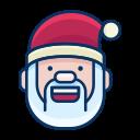 emoji, happy, emot, santa, smiley, smile icon