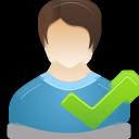 accept, user, male icon
