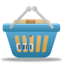 basket, full, shopping icon