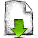 file, download icon