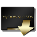 Gold, Mydownloads icon