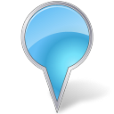 Map Marker Bubble Azure icon
