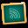 learn, teach, feed, teaching, rss, school, subscribe, education, blackboard, green icon