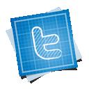 blueprint, social, twitter icon