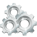 gears, execute, silver, utilities, ware, settings icon