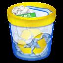 Papelera llena recycle icon