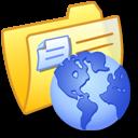 Folder Yellow Web icon