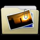 beige folder pictures alt icon