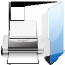 print, printer, folder icon