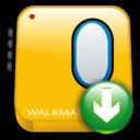 walkman, descending, download, fall, down, decrease, descend icon