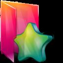 Aurora, Favorites, Folders, texto icon