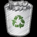 scribble bin full icon