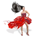 Girls Red Dress icon