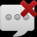 message bubble delete icon