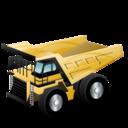 truck, rigid, construction, dump icon