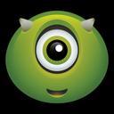 alien, spooky, mike, horn, martian, halloween, monster icon