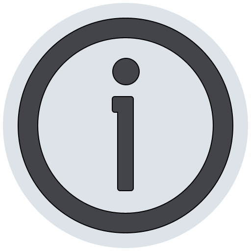 info, information, about icon
