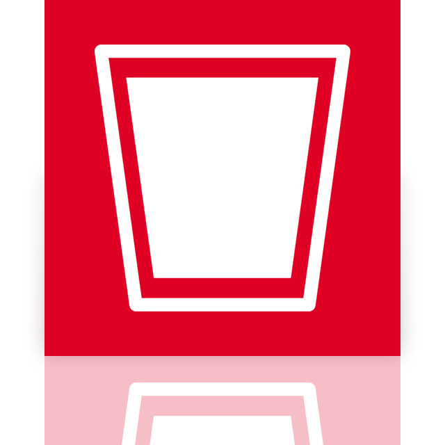 recycle, mirror, full, bin icon