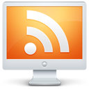rss, monitor, computer, subscribe, display, social, screen, feed icon