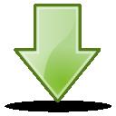 descending, fall, download, down, descend, decrease icon