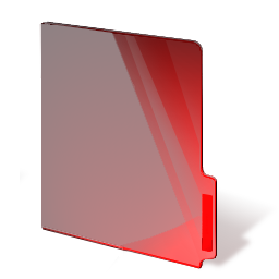 folder, red, closed icon