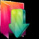 Aurora, Downloads, Folders, texto icon