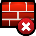 firewall, shield, error, safety, clear icon