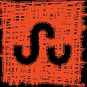 stumbleupon, media, sketch, pen, social icon