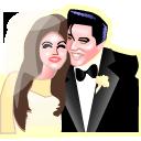 Elvis and Priscilla Presley icon