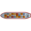 Container Ship Top Red icon