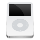 white, ipod, video icon