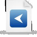 paper, blue, document, file icon