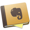 evernote, brown icon