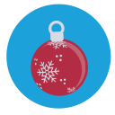 christmas, decoration, bauble icon