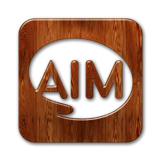 aim, square, logo icon