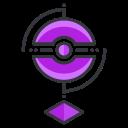 pokemon, game, girl, play, go, virtual, reality icon